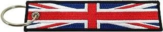 United Kingdom of Great Britain Union Jack Flag Key Chain, 100% Embroidered