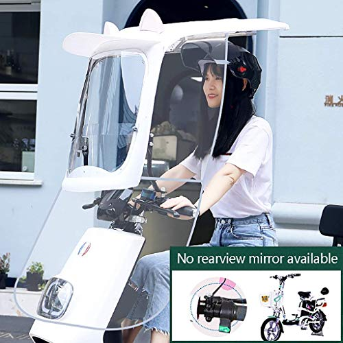 Qazxsw General Rearview Mirror Scooter Fashion Sunshade Umbrella, Battery Car Rain Shed, Motorcycle Sunscreen Windshield, Used For Windscreen Sunscreen And Rain