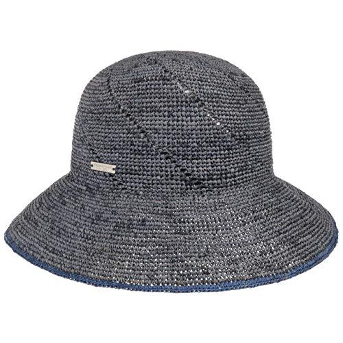 Seeberger Sombrero Cloche de Paja Eliza rafia (talla única - azul)