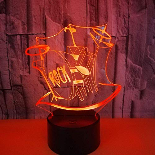 Drum Set 3D Illusion Lamp 7 Couleurs Change Optical Illusion Touch Table Desk LED Night Light Great Kids Gifts Décoration de la maison