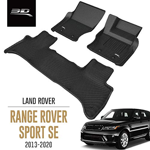 3D MAXpider All-Weather Car Floor Mats for Land Rover Range Rover Sport SE 2013-2020 Tailored Fit Premium Waterproof Hybrid Rubber Car Mat Set (RHD for the UK)