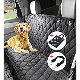 Wimypet X-Large Dog Seat Cover-Heavy Duty & Waterproof, Machine Washable, with A Safety Seat Belt and Carry Bag,Dog Hammock 152 x 147cm