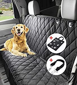 Winipet DO01-FBA - Manta Impermeable para Perros (150 x 144 cm, con cinturón de Seguridad y Bolsa de Transporte para Coches)