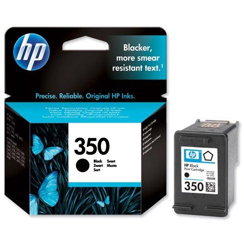 CB335EE#301 HP Ink Crtrg 350 Schwarz HP 350 Blister/ für HP Photosmart D5360, C4280, C4380, C5280, C4424, C4480, C4580, C4524, HP Officejet J6424, J5785, J5780, HP Deskjet D4260.