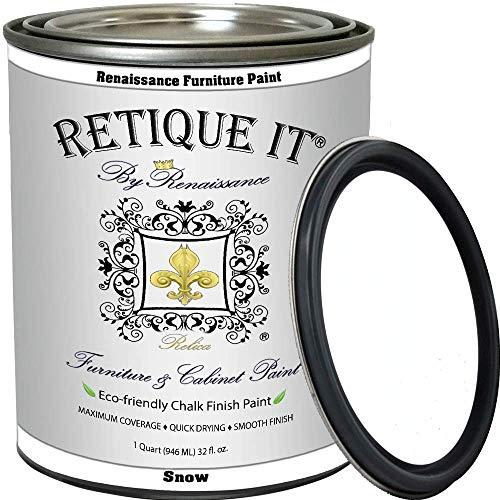 Retique It Chalk Furniture Renaissance Cabinet Paint, 32 oz (Quart), 01 Snow