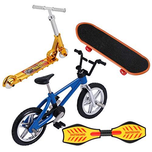 BESPORTBLE Juego de Mini Juguetes para Los Dedos Bicicletas de Patineta de Dedo Scooter Pequeña Tabla de Oscilación Movimiento de La Punta del Dedo Juguete Educativo Temprano para Navidad