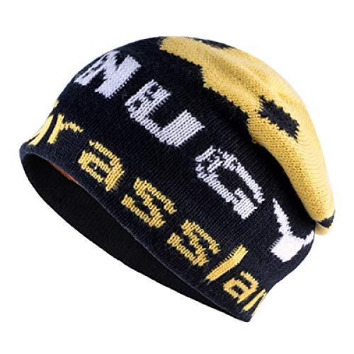 Unexceptionable-Beanie Hat Lettre Hiver Hommes tricotant Bonnet Bonnet Bonnet Femme kating Casquettes de Ski Bonnets Bonnets pour Hiver Femme Bonnet Hip Hop TMD27 @ Yellow