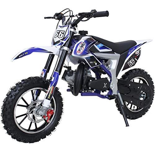 2021 Version X-PRO 50cc Dirt Bike Gas Dirt Bike Dirt Bikes Pit Bikes Youth Dirt Pitbike (Blue)