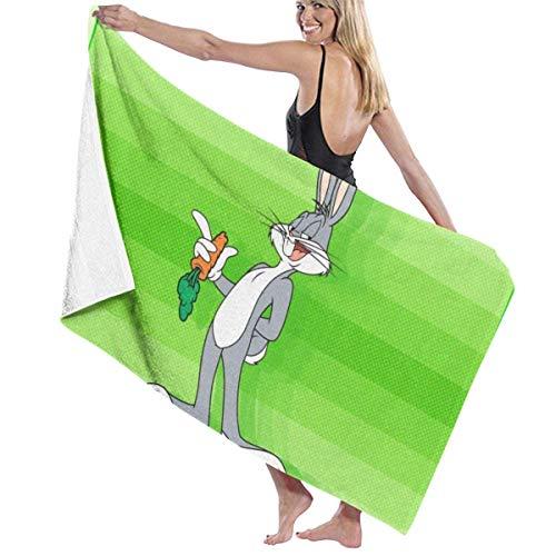 XCNGG TV Show Bugs Bunny Toalla de baño Portátil Ligero Súper Suave Toalla de baño Absorbente Adecuado para baño Piscina Playa SPA Toallas de baño