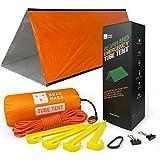 Bearhard Saco de dormir de emergencia para acampada, senderismo y refugio de emergencia [Carpa naranja -12x7.5x6.5cm ]