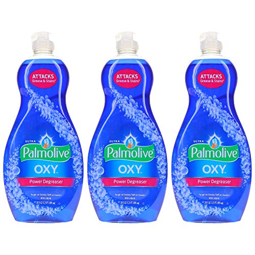 Palmolive Ultra Oxy Power Degreaser, Dish Soap - 60 Fl Oz - 3 Pack x 20 FL Oz / 591 mL Each