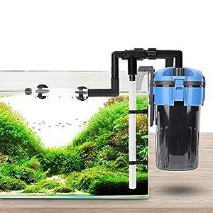 Elikliv 220v 13W Aquarium Filter, 450L/h Aquarium Fish Tank External Canister Filter Ultra-quiet Aquarium External…