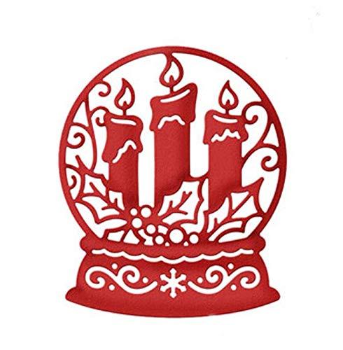 DHLZ Schneidform Kerze Schneekugel Metall Schneideisen Stanzform Scrapbooking Papier Handwerk Messer Form Klinge Punch Schablone Vorlage 76 * 65 Mm