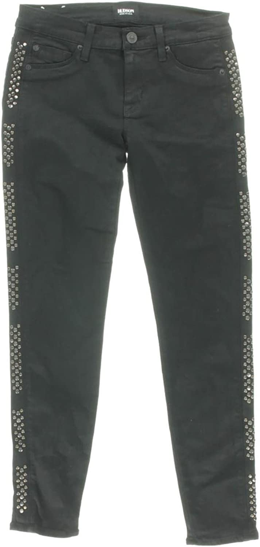 Hudson Womens Luna Studded LowRise Cropped Jeans Black 24