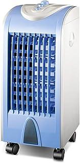 THS@ Ventilador del Aire Acondicionado Enfriador Evaporativo EléCtrico 3 Configuraciones De Viento y OscilacióN FáCil de Operar Azul 26x27x57cm