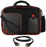 Red Trim Laptop Messenger Bag, HDMI Cable for ASUS Transformer, ROG, ASUSPRO, ZenBook, VivoBook 14' to 15.6 inch