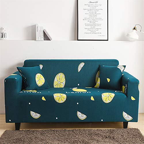 Surwin Funda de Sofá Elástica para Sofá de 1 2 3 4 plazas, Impresión Universal Cubierta de Sofá Cubre Moda Sofá Antideslizante Sofa Couch Cover Protector (Retro,4 plazas - 235-300cm)