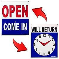 アメリカン プラスチック サインボード OPEN COME IN/WILL RETURN オープン クローズ 両面 プレート アメリカン雑貨 グッズ アメリカ 雑貨 世田谷ベース 看板 インテリア 店舗 備品
