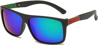 FJCY - Gafas de Sol polarizadas cuadradas retráctiles de conducción Gafas de Sol cuadradas de Goma para Hombres Gafas de Sol polarizadas para Hombres y mujeres-Kmj806-C7