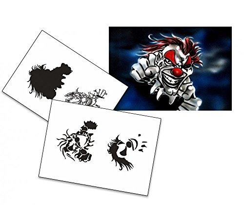 UMR-Design AS-030 Joker Airbrushschablone Step by Step Grösse M