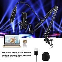 コンデンサーマイクキット、マイクキット、マイクバンドル、USBプラグアンドプレイ、スタジオ放送録音機器用