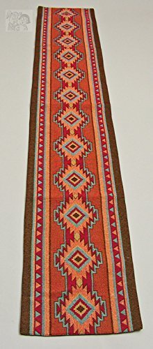 Luna Southwestern Desert Design Table Runner 13x72 inches by RaaKha