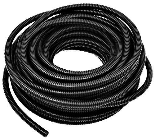 "American Terminal Wire Loom Black 20' Feet 3/8"" Split Tubing Hose Cover Auto Home Marine"
