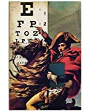 Situen Napoleon Eye Test Poster for Home Decoration