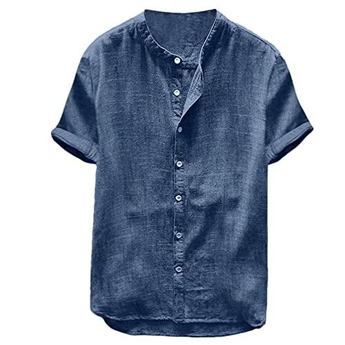 Camisa casual de cuello sólido para hombre