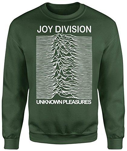 LaMAGLIERIA Unisex-Sweatshirt Joy Divison Classic - Set-In Sweatshirt, XL, Verde