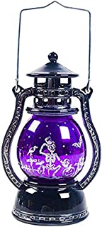 WJIE Halloween Night Light, Decoration/Atmosphere/Party Hanging Festival bar Home Desktop Oil lamp Energy Saving-Purple