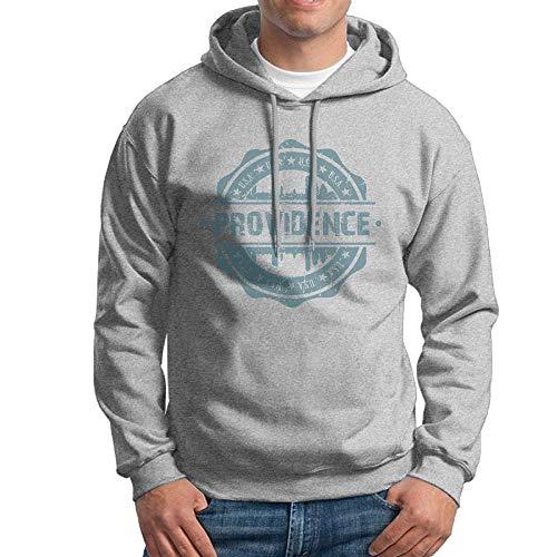 Ljkhas2329 Men's Providence Rhode Island Hoodies Hooded Sweatshirt Pullover Sweater, Drawstring Hooded Jersey Jacket XL