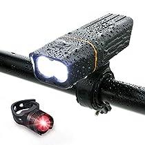 自転車 ライト LED 防水 800ルーメン 2600mAh 大容量電池 USB充電...