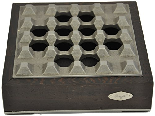 Zigarrenaschenbecher für 4 Zigarren - Metall/Holz - Humidor - Marke: ANGELO