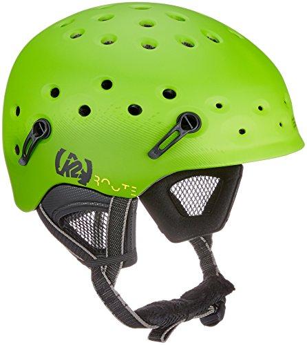 K2 Ski Herren Skihelm ROUTE green L/XL (59-62cm) 1044103.1.3.L/XL Snowboard Snowboardhelm Kopfschutz Protektor