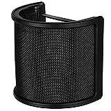 Microfono Filtro Antipop Antivento con Strato Schiuma per Studio Registrazione