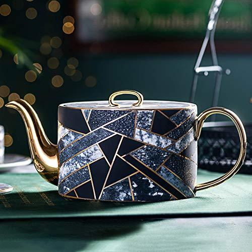 Mok zwarte thee, keramische koffiekop, middagsthee, zwarte theekop, delicate koffiekop, schotelhuishoudsset met lepel en geschenkdoos aparte theepot