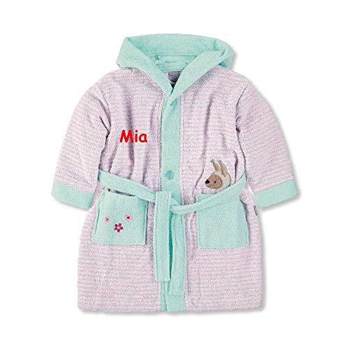 Sterntaler Baby Kinder Bademantel Lama Lotte 74/80 mit Namen bestickt