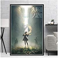 Suuyar Nier Automata Fight Game Girl Japan Anime Comic Poster And Prints Wall Art Print On Canvas For Living Room Home Bedroom-24X32 Inchx1 Frameless
