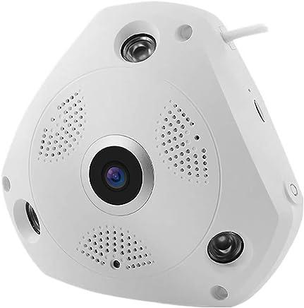 K99 Telecamera Senza Fili WiFi, Visione Notturna VR 1080P FHD Telecamera Panoramica WiFi Intelligente 360 Gradi HD Night Vision Telecamera Senza Fili Panoramica Obiettivo Fisheye,3millionpixels - Trova i prezzi più bassi