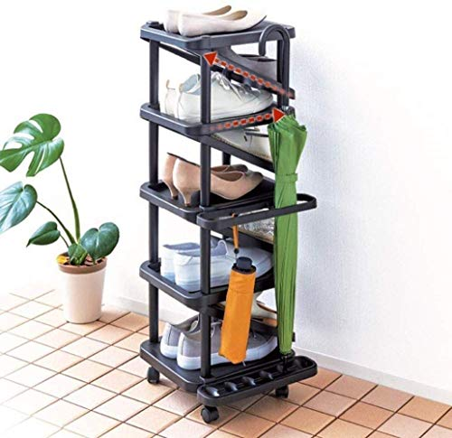 DFJU Gabinete de Zapatos de Varias Capas, Gabinete de Zapatos de plástico de Varias Capas y Varias Capas con Paraguas de Estante (tamaño: 36 * 31 * 89 cm)