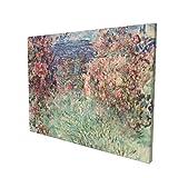 Claude Monet La Casa Entre Las Rosas La Maison Dans Les Roses 1925 Pintura Artística 30,5 x 40,6 cm, decoración del salón