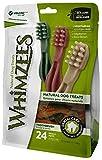 WHIMZEES Zahnbürste, natürliche, getreidefreie Zahnpflegesnacks, Kaustangen für kleine Hunde, 24 Stück, Größe S