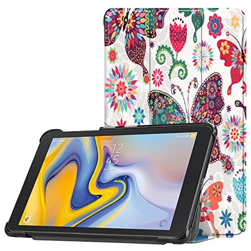 Tanxinxing For Samsung Galaxy Tab A 8.0 Inch SM-T387 (2018 Release) Owl Butterfly Flower Dandelion Eiffel Tower Design Smart Tablet Case Trifold Stand (PATTERN : 4)