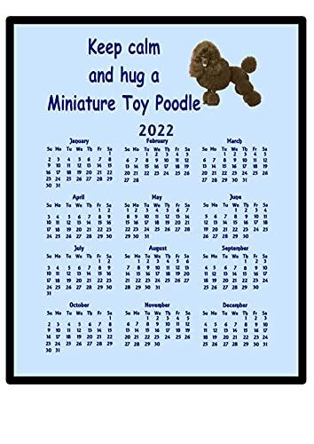 Jouet miniature Poodle – 2016 Calendrier Tapis de souris (Keep Calm)