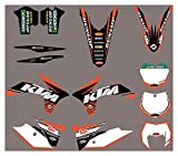 Hjunisshkm Calcomanías de Motocicletas Pegatinas Kit de gráficos Kit de decancia gráfica para KTM ECC 2012-2013 HFDYJ (Color : 3)