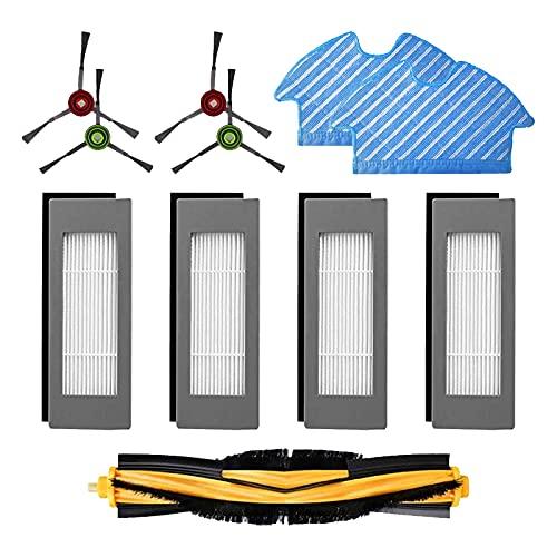 HALIEVE Filter Bürste Wischtuch Ersatzteile Zubehör Set für Ecovacs DEEBOT OZMO 900 OZMO 905 Staubsauger Roboter (11 Stück)