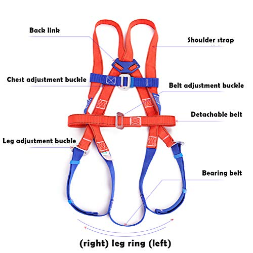 LXYYSG Safety Harness, Roofing Fall Protection Full Body Universal Harness, Construction Harness Vest-Style, for Aerial Lift, Ironworker, Scaffolding, Tower, Tree Climbing for Universal Men and Women