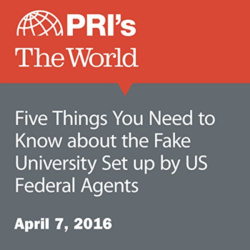 Five Things You Need to Know about the Fake University Set up by US Federal Agents audiobook cover art