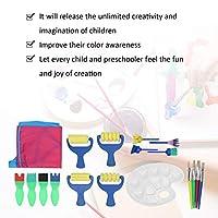 ペイントクラフトブラシ、子供のための子供のための絵画のためのDIYクラフトプロジェクトを作成するための多目的をつかみやすい安全な無毒の描画ブラシ
